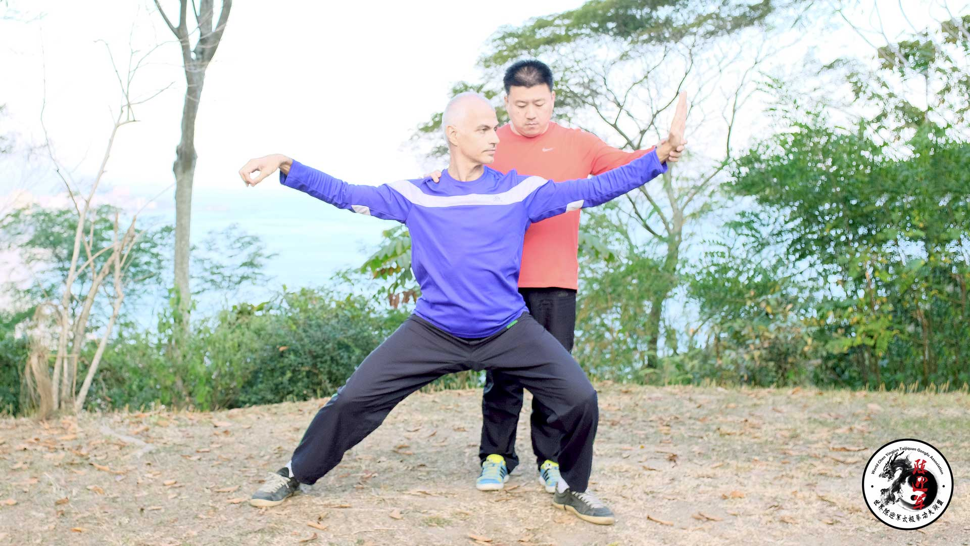 Chen Yingjun and Eduardo Molon